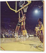 Kareem Abdul Jabbar Hook Wood Print by Retro Images Archive