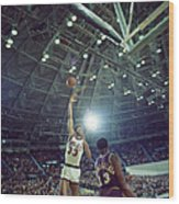 Kareem Abdul Jabbar Sky Hook Wood Print by Retro Images Archive