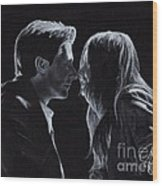 Karen Gillan And Arthur Darvill Wood Print by Rosalinda Markle