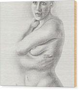 Kari Newly Pregnant Daydreaming Wood Print