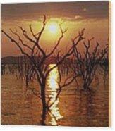 Kariba Sunset Wood Print