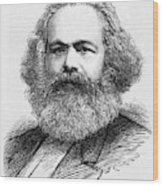 Karl Marx  German Radical Political Wood Print