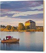 Karlskrona Boat Wood Print