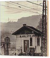 Karlstejn Railroad Shack Wood Print by Joan Carroll