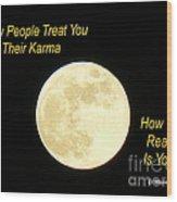 Karma Wood Print