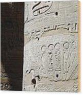 Karnak Temple 11 Wood Print