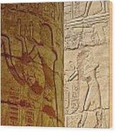 Karnak Temple Detail Wood Print