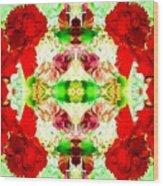 Karnation Kaleidoscope Wood Print