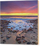 Karrara Sunset Wood Print by Bill  Robinson