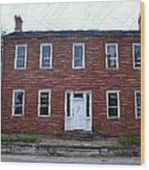 Karrick Parks House - Perryville Ky Wood Print by Thia Stover