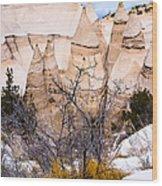 Kasha Katuwe Tent Rocks In The Winter Snow Wood Print