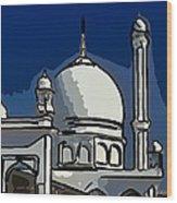 Kashmir Mosque 2 Wood Print
