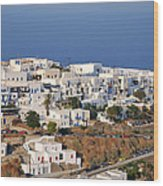 Kastro Village In Sifnos Island Wood Print
