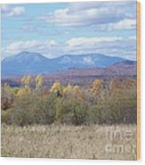 Katahdin From Staceyville 3 Wood Print