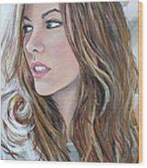 Kate Beckinsale Wood Print