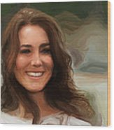 Kate Middleton Wood Print