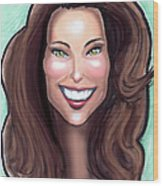 Kate Middleton Wood Print by Kevin Middleton