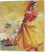 Kathak Dance Wood Print