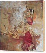 Kathak Dancer 8 Wood Print