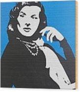 Katharine Hepburn  Wood Print by Juan Molina