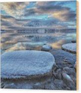 Kathleen Lake And Mount Worthington Wood Print
