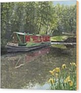 Kathleen May Chesterfield Canal Nottinghamshire Wood Print