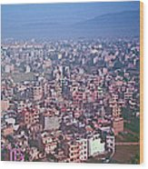 Kathmandu From The Airplane-nepal  Wood Print