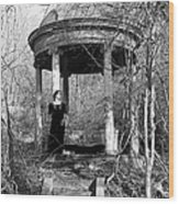 Kathy In Gazebo 1979 Wood Print