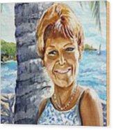 Kathy Smiles Wood Print