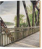 Katy Trail Near Easley Wood Print