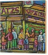 Katz's Deli Wood Print