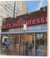 Katz's Delicatessan Wood Print