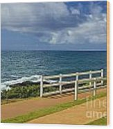 Kauai Beach - Morning Storm Wood Print