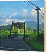 Kauai Bridge Wood Print