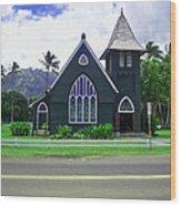 Kauai Church 2 Wood Print