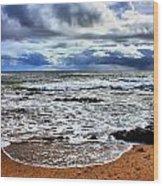 Kauai Glass Beach Wood Print