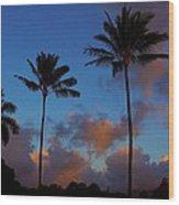 Kauai Sunrise Wood Print