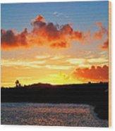 Kauai Sunset 2 Wood Print