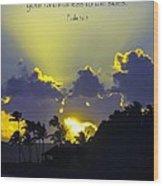 Kauai Sunset Psalm 36 5 Wood Print