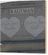 Kaufman Grave No Greater Love Wood Print