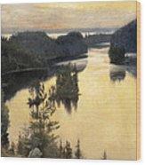 Kaukola Ridge At Sunset Wood Print