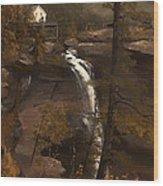 Kauterskill Falls Wood Print