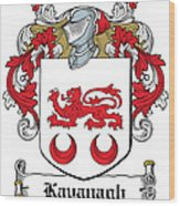 Kavanaugh Coat Of Arms Irish Wood Print