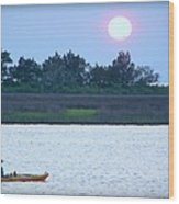 Kayak Fishing 1 Wood Print