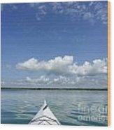 Kayak On Lake Ontario Wood Print