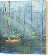 Kayak Rays Wood Print by Rich Kuhn