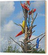 Kayak Tree Wood Print