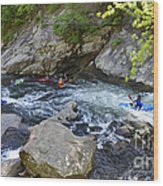 Kayaking Baby Falls Wood Print
