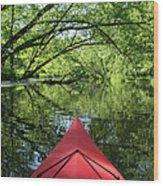 Kayaking Backwater Mississippi 1 Wood Print