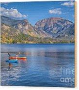 Kayaking Grand Lake Wood Print